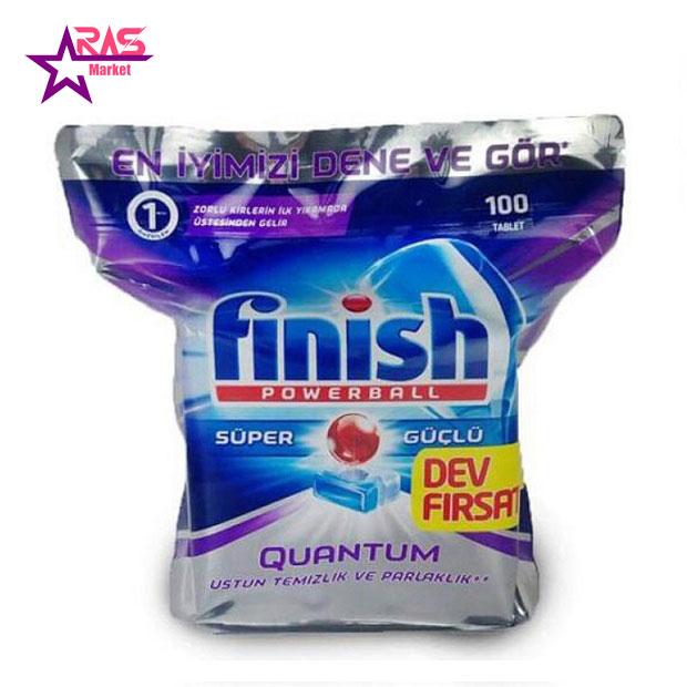 قرص ماشین ظرفشویی فینیش کوانتوم 100 عددی، فروشگاه اینترنتی ارس مارکت ، بهداشت خانه ، خرید محصولات شوینده و بهداشتی، finish ، Quantum