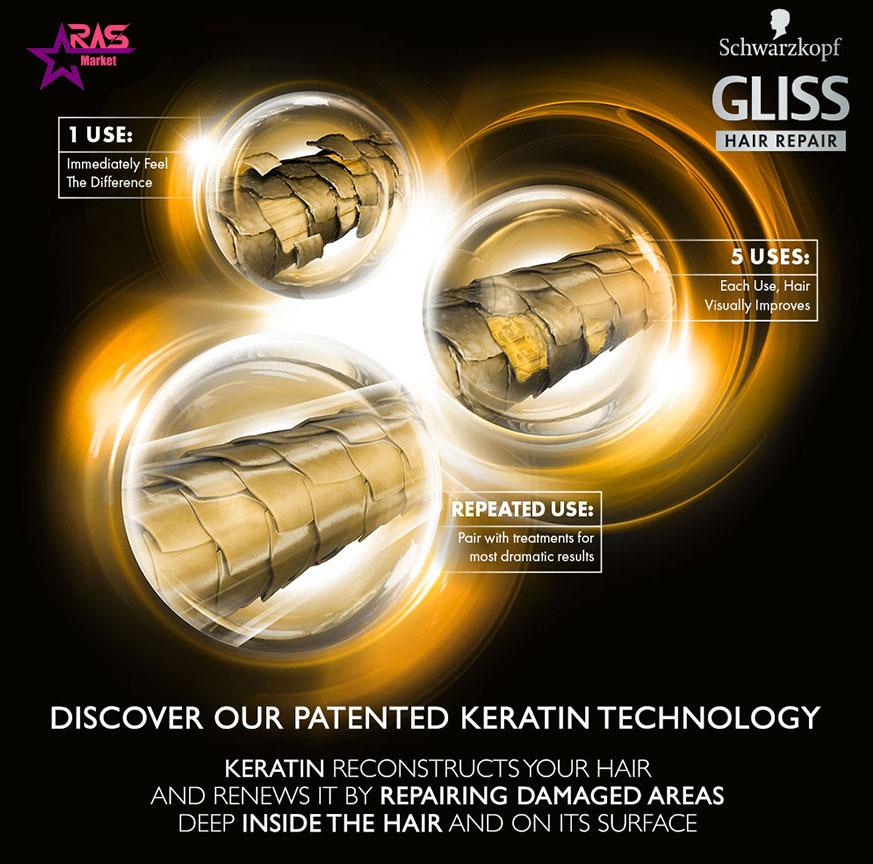 اسپری دو فاز گلیس مدل Total Repair مناسب موهای خشک و آسیب دیده 200 میلی لیتر ، خرید اینترنتی محصولات شوینده و بهداشتی ، ارس مارکت