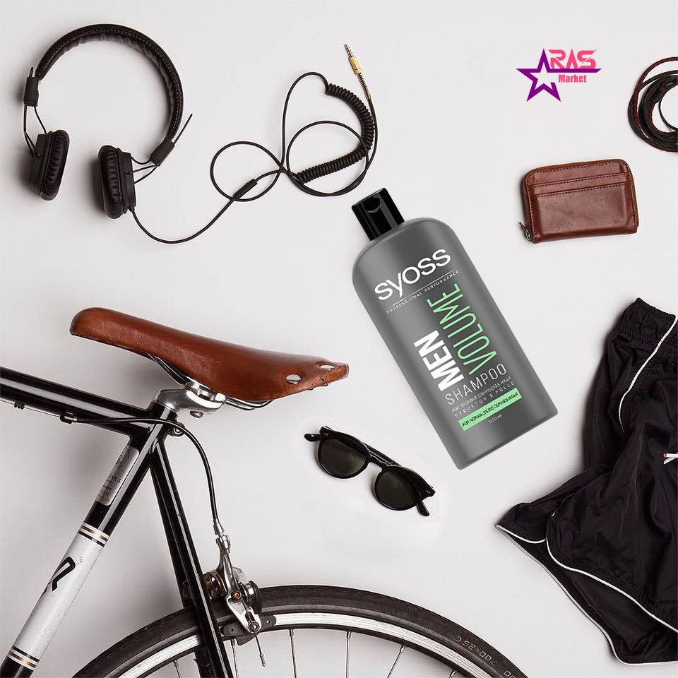 شامپو سایوس مردانه مدل Men Volume حجم 500 میلی لیتر ، خرید اینترنتی محصولات شوینده و بهداشتی ، استحمام