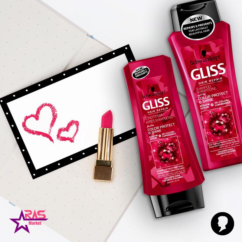 شامپو گلیس مدل Color Protect مخصوص موهای رنگ شده 525 میلی لیتر ، خرید اینترنتی محصولات شوینده و بهداشتی ، استحمام