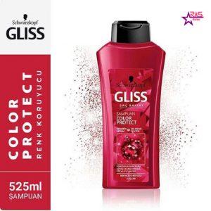 شامپو گلیس مدل Color Protect مخصوص موهای رنگ شده 525 میلی لیتر ، فروشگاه اینترنتی ارس مارکت ، استحمام