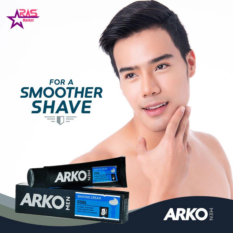 خمیر اصلاح آرکو مدل Cool خنک کننده 100 میلی لیتر ، خرید اینترنتی محصولات شوینده و بهداشتی ، بهداشت آقایان ، arko shaving cream