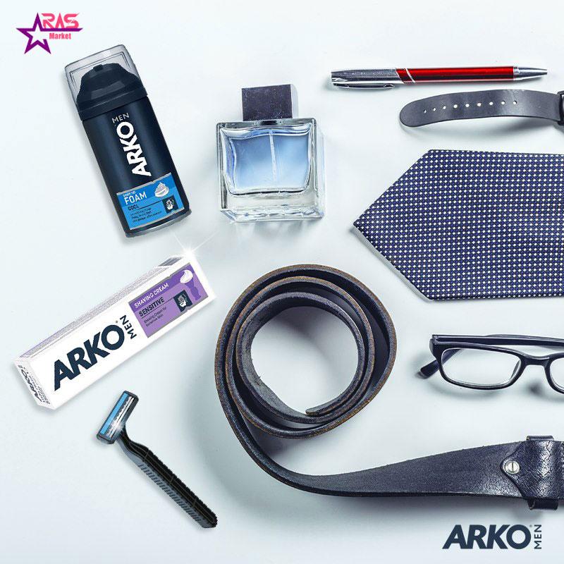 خمیر اصلاح آرکو مدل Sensitive مخصوص پوست های حساس 100 میلی لیتر ، خرید اینترنتی محصولات شوینده و بهداشتی ، بهداشت آقایان ، aras market
