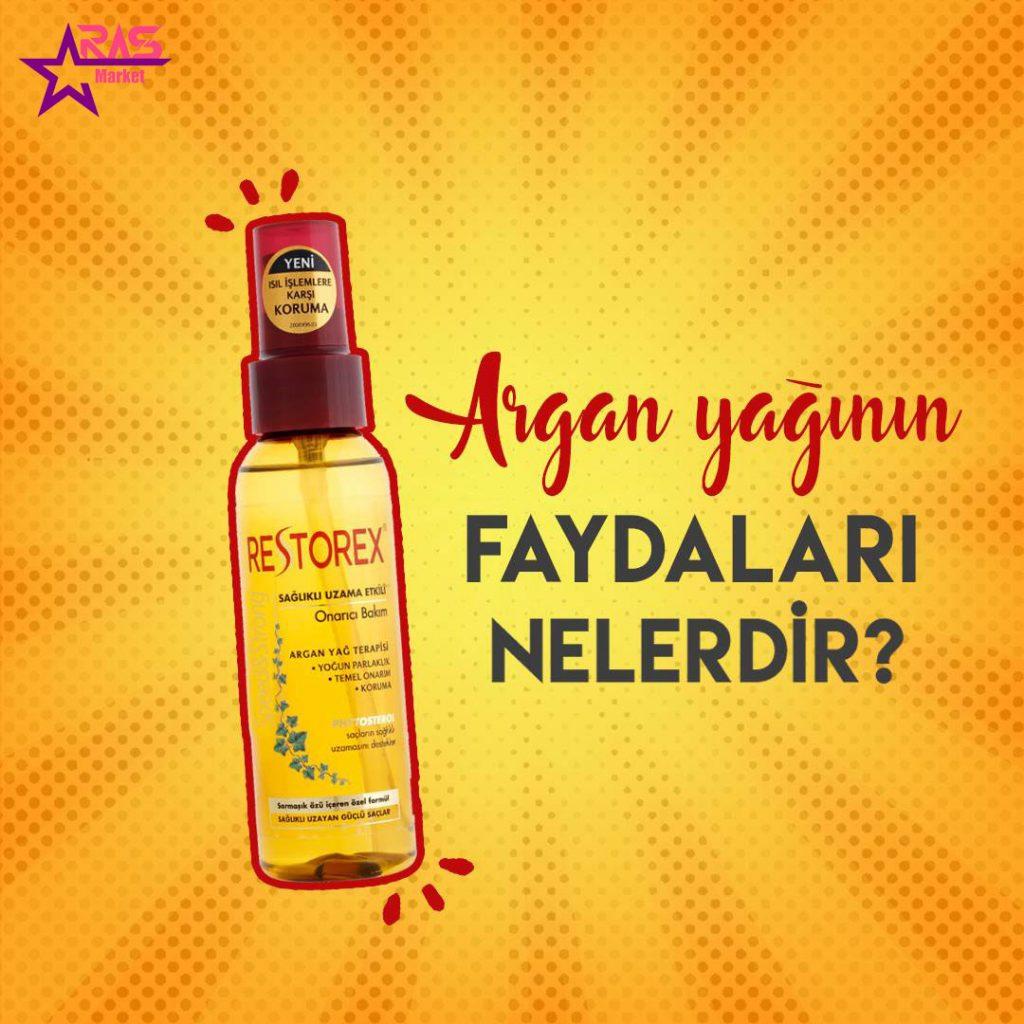 روغن آرگان رستورکس 100 میلی لیتر ، خرید اینترنتی محصولات شوینده و بهداشتی، روغن مو ، خرید محصولات اصل ترکیه