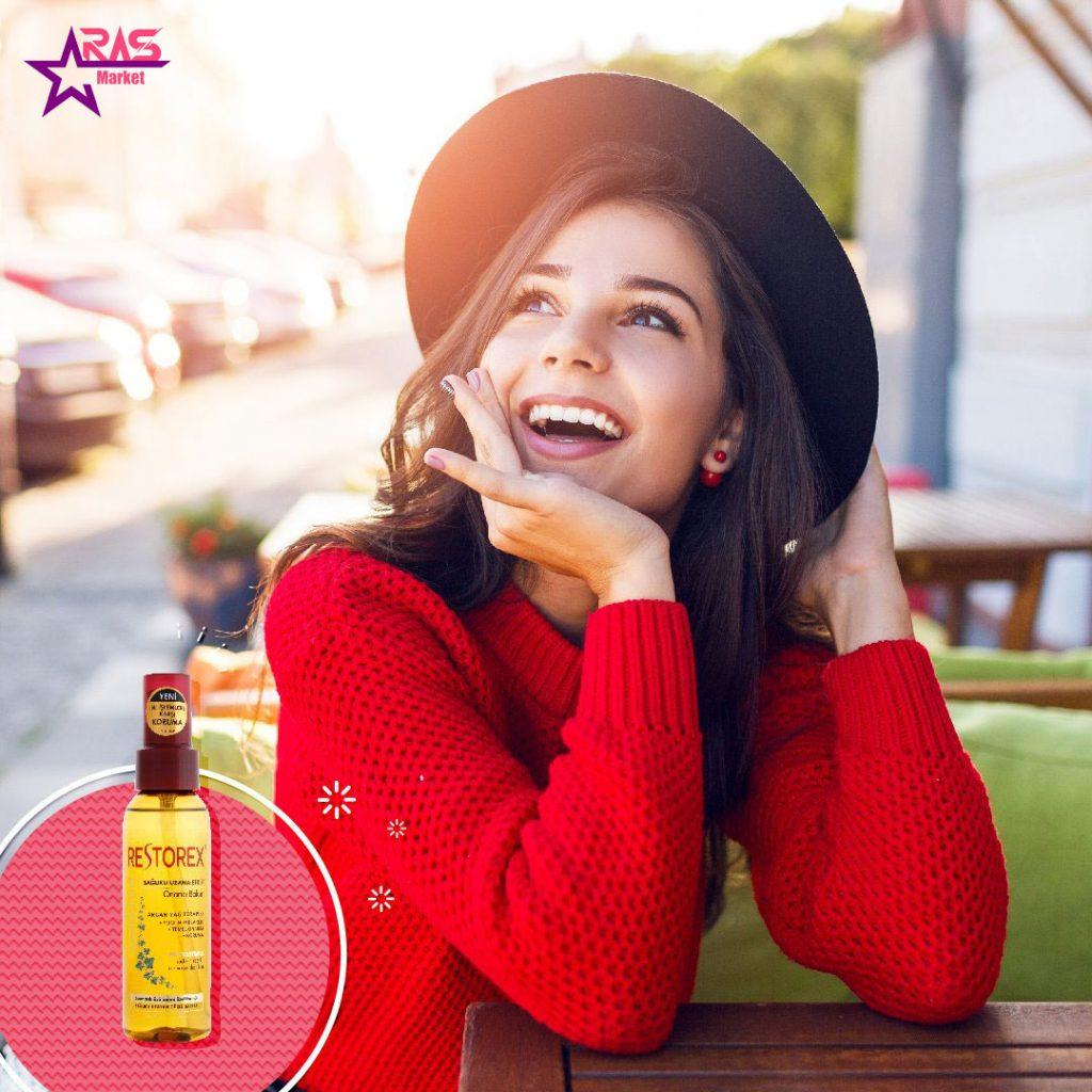 روغن آرگان رستورکس 100 میلی لیتر ، خرید اینترنتی محصولات شوینده و بهداشتی، روغن مو ، مراقبت مو
