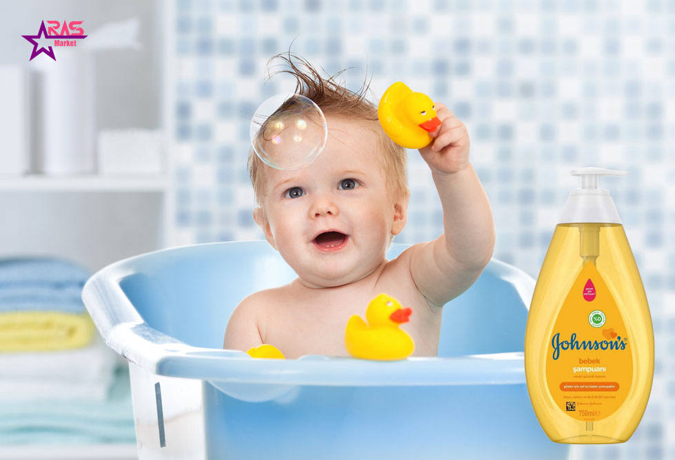 شامپو بچه جانسون 750 میلی لیتر ، خرید اینترنتی محصولات شوینده و بهداشتی ، محصولات کودک