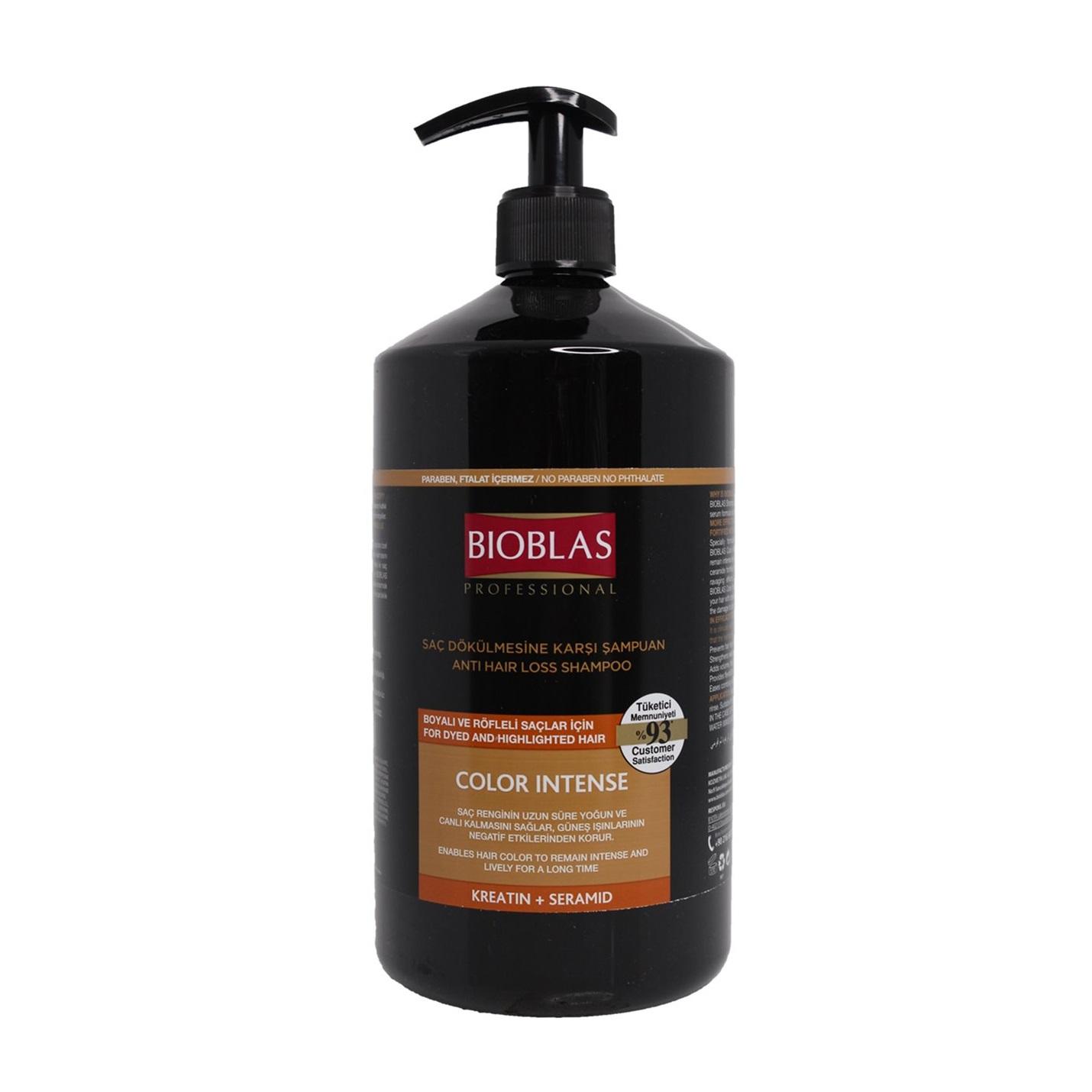 شامپو بیوبلاس ضد ریزش مو مدل Color Intense مخصوص موهای رنگ شده 1000 میلی لیتر
