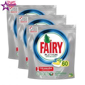 قرص ماشین ظرفشویی فیری پلاتینیوم 60 عددی ، فروشگاه اینترنتی ارس مارکت ، بهداشت خانه ، fairy platinum