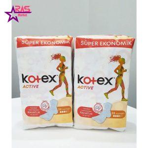 نوار بهداشتی کوتکس ACTIVE اندازه نرمال 24 عددی ، فروشگاه اینترنتی ارس مارکت ، بهداشت بانوان ، نوار بهداشتی KOTEX
