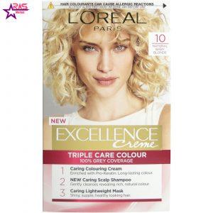 کیت رنگ مو لورآل سری Excellence شماره 10 ، فروشگاه اینترنتی ارس مارکت ، بهداشت بانوان ، loreal hair dye