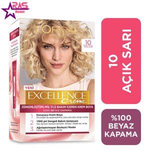 کیت رنگ مو لورآل سری Excellence شماره 10 ، فروشگاه اینترنتی ارس مارکت ، بهداشت بانوان