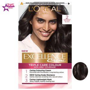 کیت رنگ مو لورآل سری Excellence شماره 2 ، فروشگاه اینترنتی ارس مارکت ، بهداشت بانوان ، کیت رنگ مو loreal