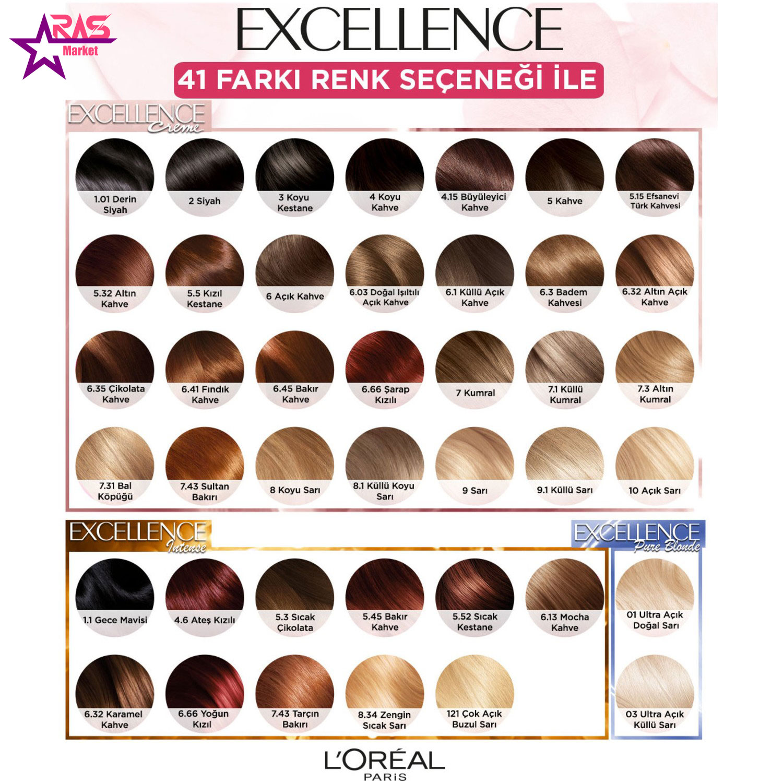 کیت رنگ مو لورآل سری Excellence شماره 5.5 ، خرید اینترنتی محصولات شوینده و بهداشتی ، بهداشت بانوان ، رنگ موی زنانه
