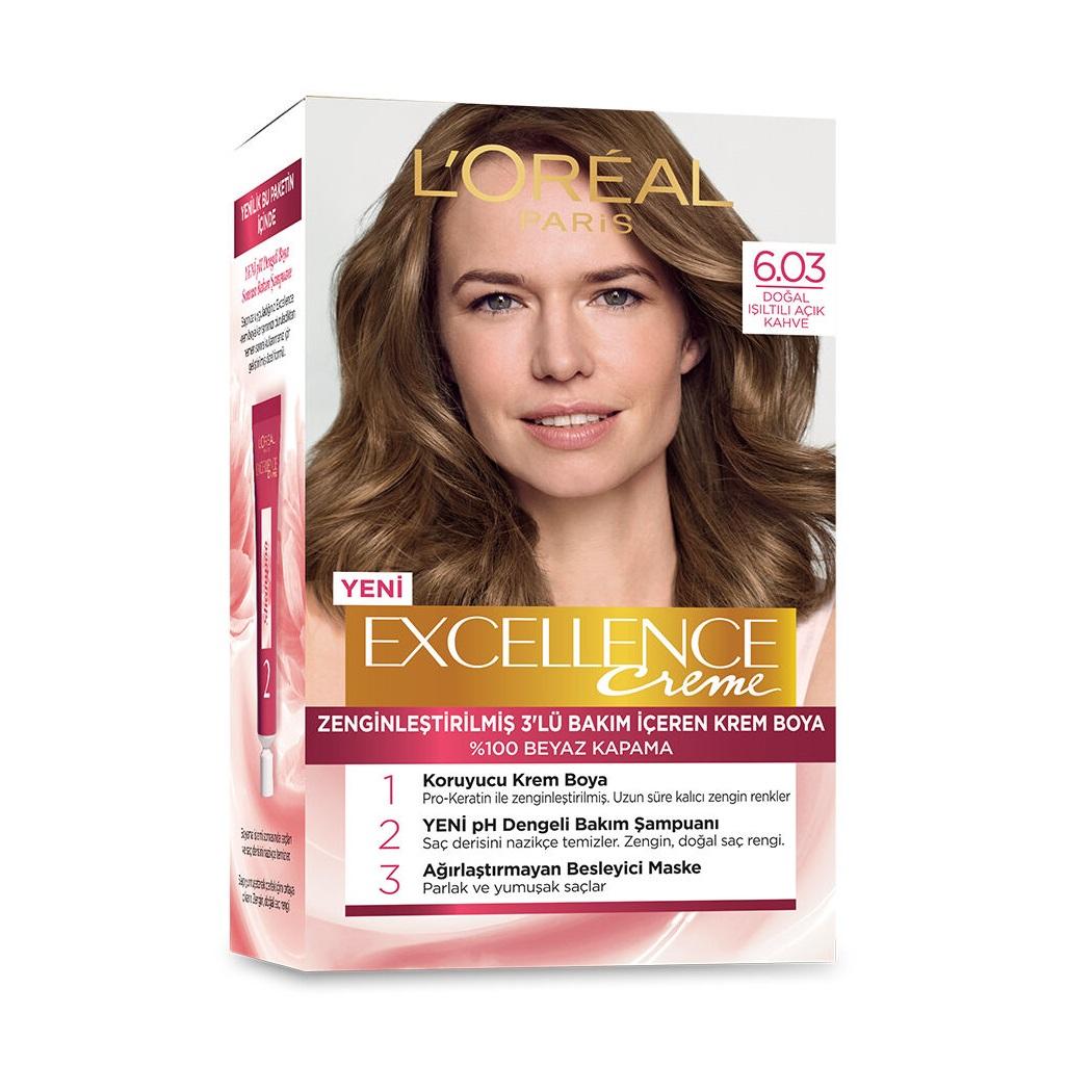 کیت رنگ مو لورآل سری Excellence شماره 6.03