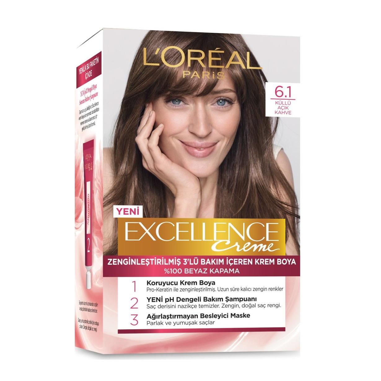 کیت رنگ مو لورآل سری Excellence شماره 6.1