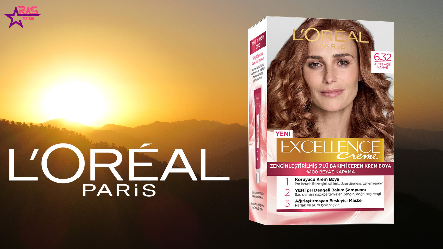 کیت رنگ مو لورآل سری Excellence شماره 6.32 ، خرید اینترنتی محصولات شوینده و بهداشتی ، بهداشت بانوان