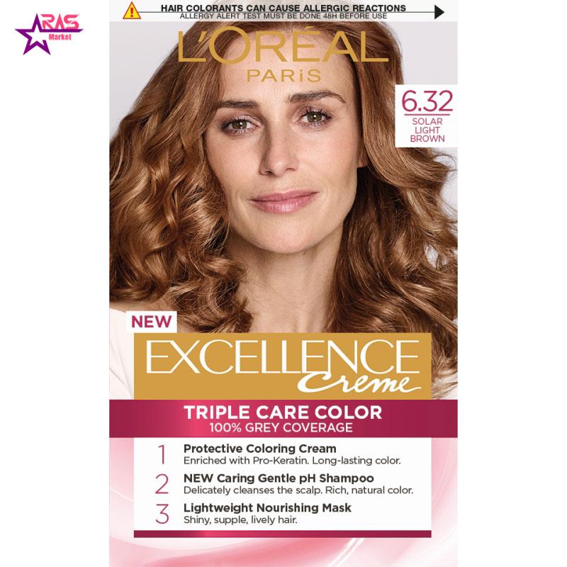 کیت رنگ مو لورآل سری Excellence شماره 6.32 ، فروشگاه اینترنتی ارس مارکت ، بهداشت بانوان ، رنگ مو زنانه