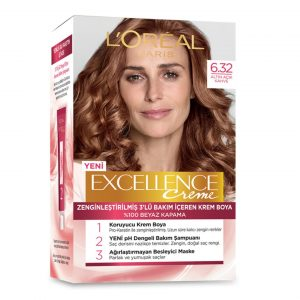 کیت رنگ مو لورآل سری Excellence شماره 6.32