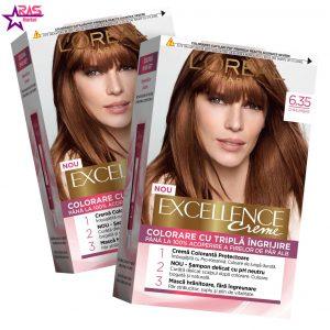 کیت رنگ مو لورآل سری Excellence شماره 6.35 ، فروشگاه اینترنتی ارس مارکت ، بهداشت بانوان ، loreal