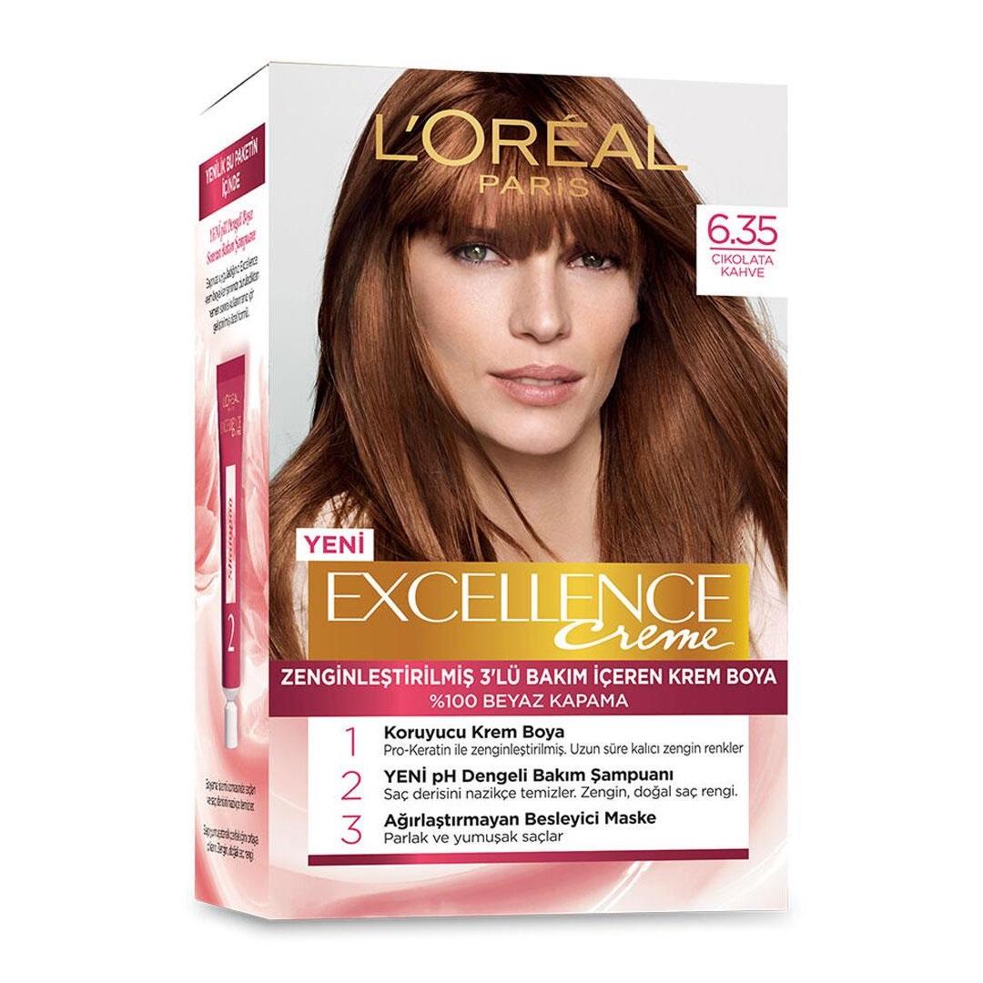 کیت رنگ مو لورآل سری Excellence شماره 6.35