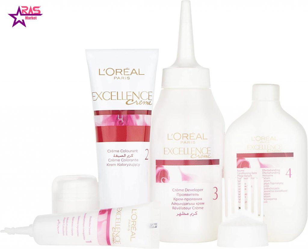 کیت رنگ مو لورآل سری Excellence شماره 7 ، خرید اینترنتی محصولات شوینده و بهداشتی ، بهداشت بانوان ، رنگ موی بانوان