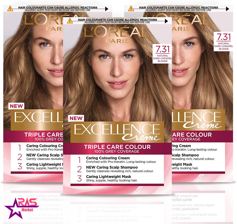 کیت رنگ مو لورآل سری Excellence شماره 7.31 ، فروشگاه اینترنتی ارس مارکت ، بهداشت بانوان ، loreal paris