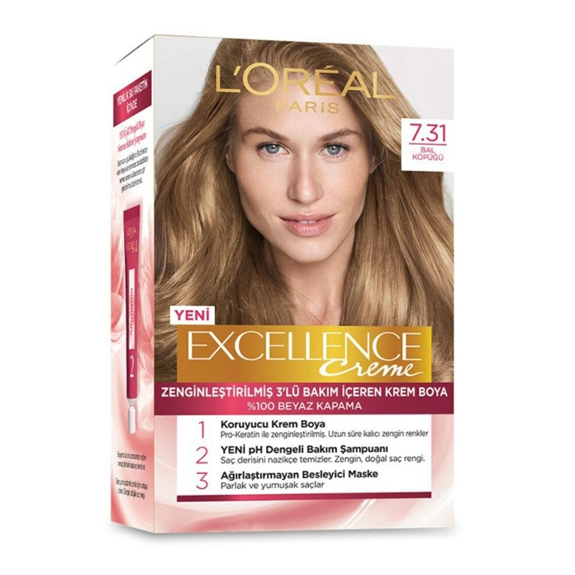 کیت رنگ مو لورآل سری Excellence شماره 7.31