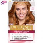 کیت رنگ مو لورآل سری Excellence شماره 7.43 ، فروشگاه اینترنتی ارس مارکت ، بهداشت بانوان ، loreal paris