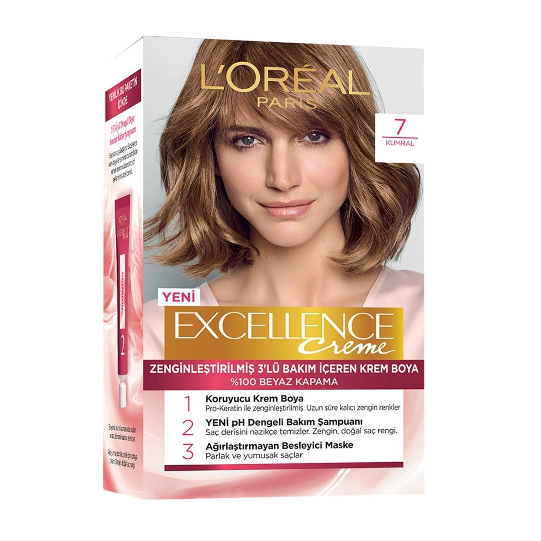 کیت رنگ مو لورآل سری Excellence شماره 7