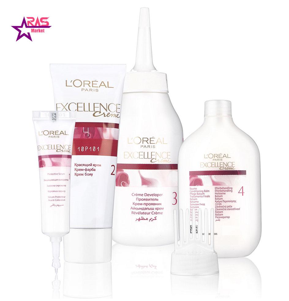 کیت رنگ مو لورآل سری Excellence شماره 8.1 ، خرید اینترنتی محصولات شوینده و بهداشتی ، بهداشت بانوان ، ارس مارکت
