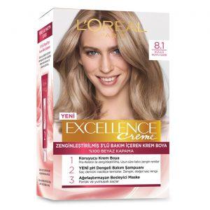کیت رنگ مو لورآل سری Excellence شماره 8.1