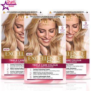 کیت رنگ مو لورآل سری Excellence شماره 9 ، فروشگاه اینترنتی ارس مارکت، بهداشت بانوان ، loreal paris