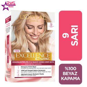 کیت رنگ مو لورآل سری Excellence شماره 9 ، فروشگاه اینترنتی ارس مارکت، بهداشت بانوان