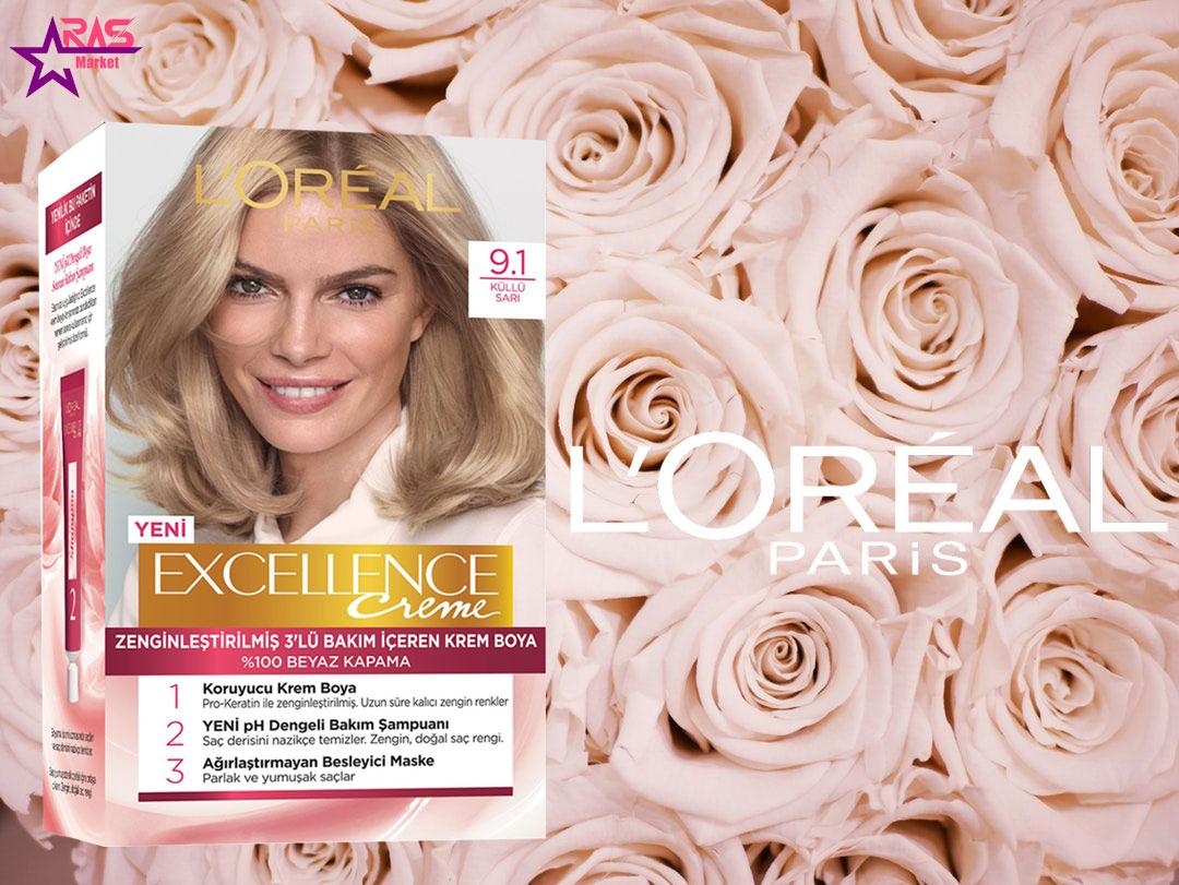 کیت رنگ مو لورآل سری Excellence شماره 9.1 ، خرید اینترنتی محصولات شوینده و بهداشتی