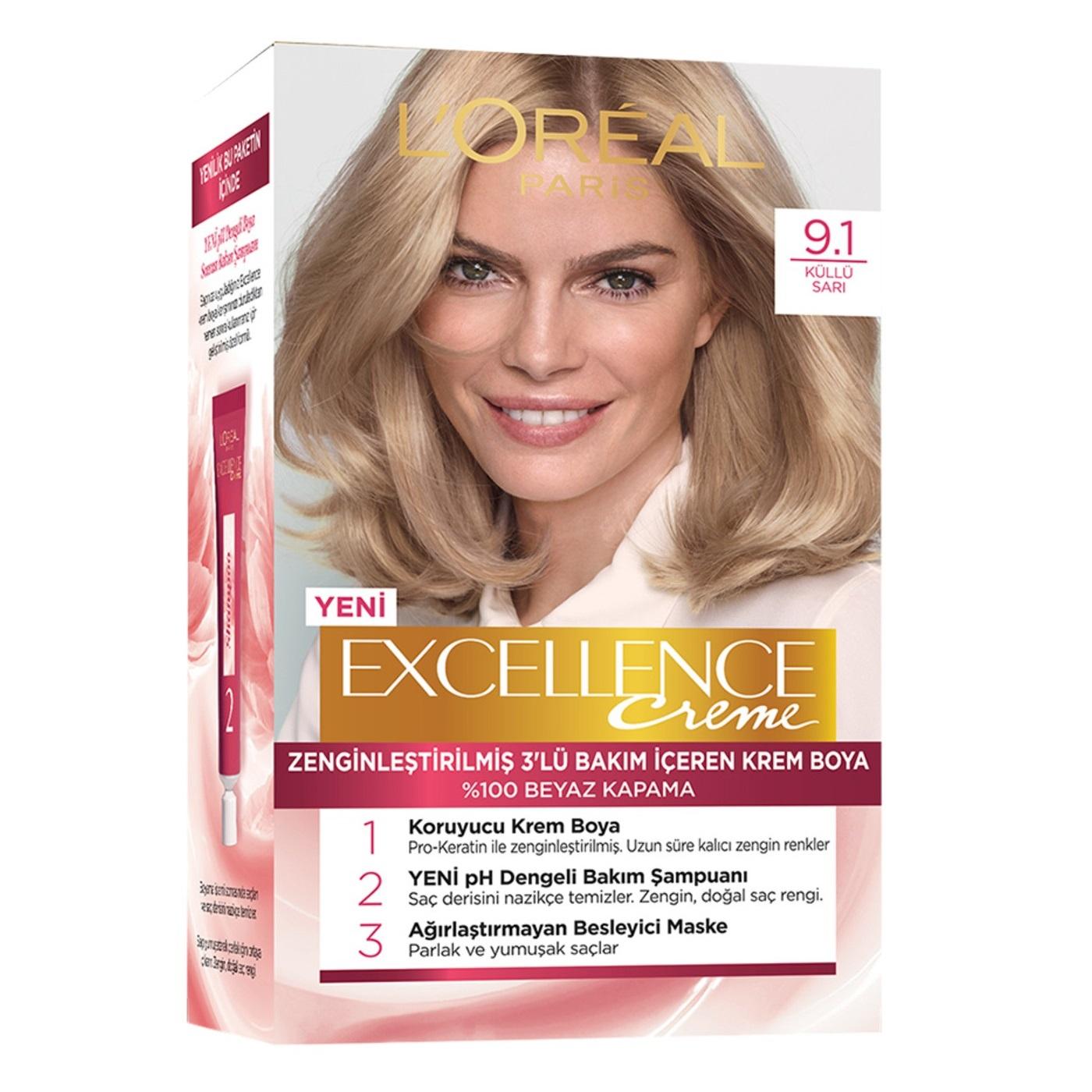 کیت رنگ مو لورآل سری Excellence شماره 9.1