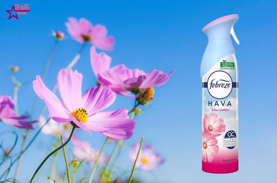 اسپری خوشبو کننده فبرز با رایحه گل های بهاری 300 میلی لیتر ، خرید اینترنتی محصولات شوینده و بهداشتی ، اپری خوشبو کننده هوا فبرز