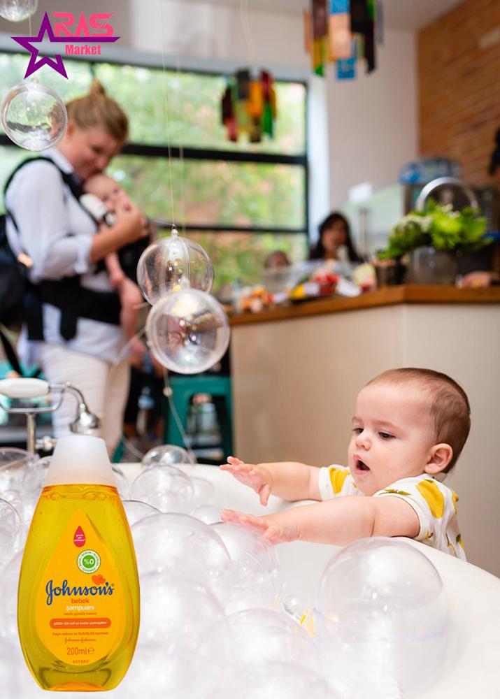 شامپو بچه جانسون 200 میلی لیتر ، خرید اینترنتی محصولات شوینده و بهداشتی ، شامپو بچه johnson