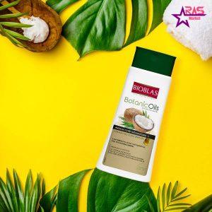 شامپو بیوبلاس حاوی روغن نارگیل درخشان کننده و تقویت کننده مو 360 میلی لیتر ، فروشگاه اینترنتی ارس مارکت ، مراقبت مو