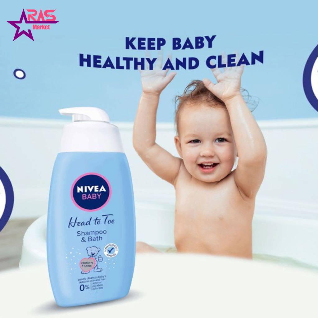 شامپو سر و بدن کودک نیوآ 750 میلی لیتر ، فروشگاه اینترنتی ارس مارکت ، بهداشت کودک ، شامپو بچه نیوآ