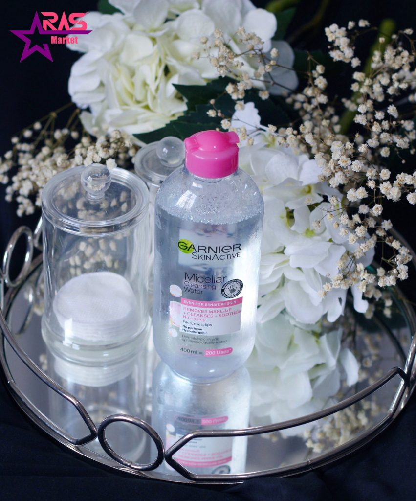 محلول آرایش پاک کن گارنیر مدل Micellar مخصوص پوست های حساس 400 میلی لیتر ، خرید اینترنتی محصولات شوینده و بهداشتی ، آرایش پاک کن