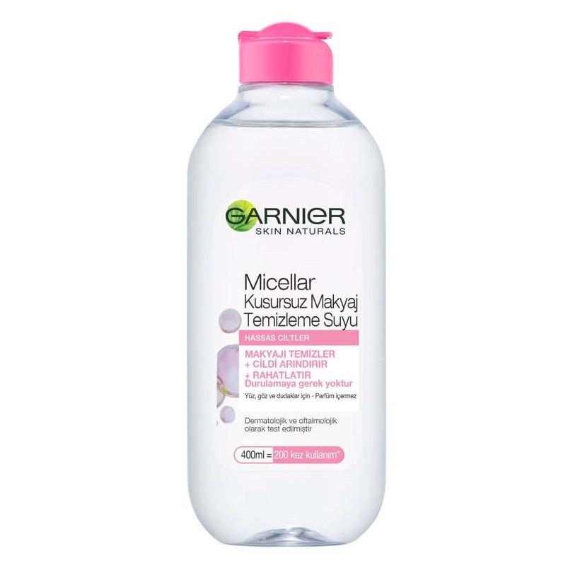 محلول آرایش پاک کن گارنیر مدل Micellar مخصوص پوست های حساس 400 میلی لیتر