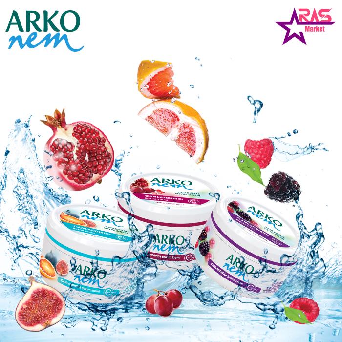 کرم مرطوب کننده آرکو نم حاوی عصاره انار و انگور قرمز 300 میلی لیتر ، خرید اینترنتی محصولات شوینده و بهداشتی ، کرم دست و صورت و بدن آرکو