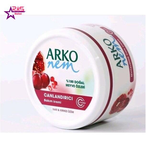 کرم مرطوب کننده آرکو نم حاوی عصاره انار و انگور قرمز 300 میلی لیتر ، فروشگاه اینترنتی ارس مارکت ، کرم دست و صورت آرکو