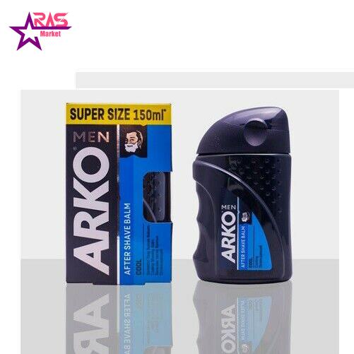 بالم افتر شیو آرکو مدل Cool حجم 150 میلی لیتر ، فروشگاه اینترنتی ارس مارکت ، arko men after shave balm