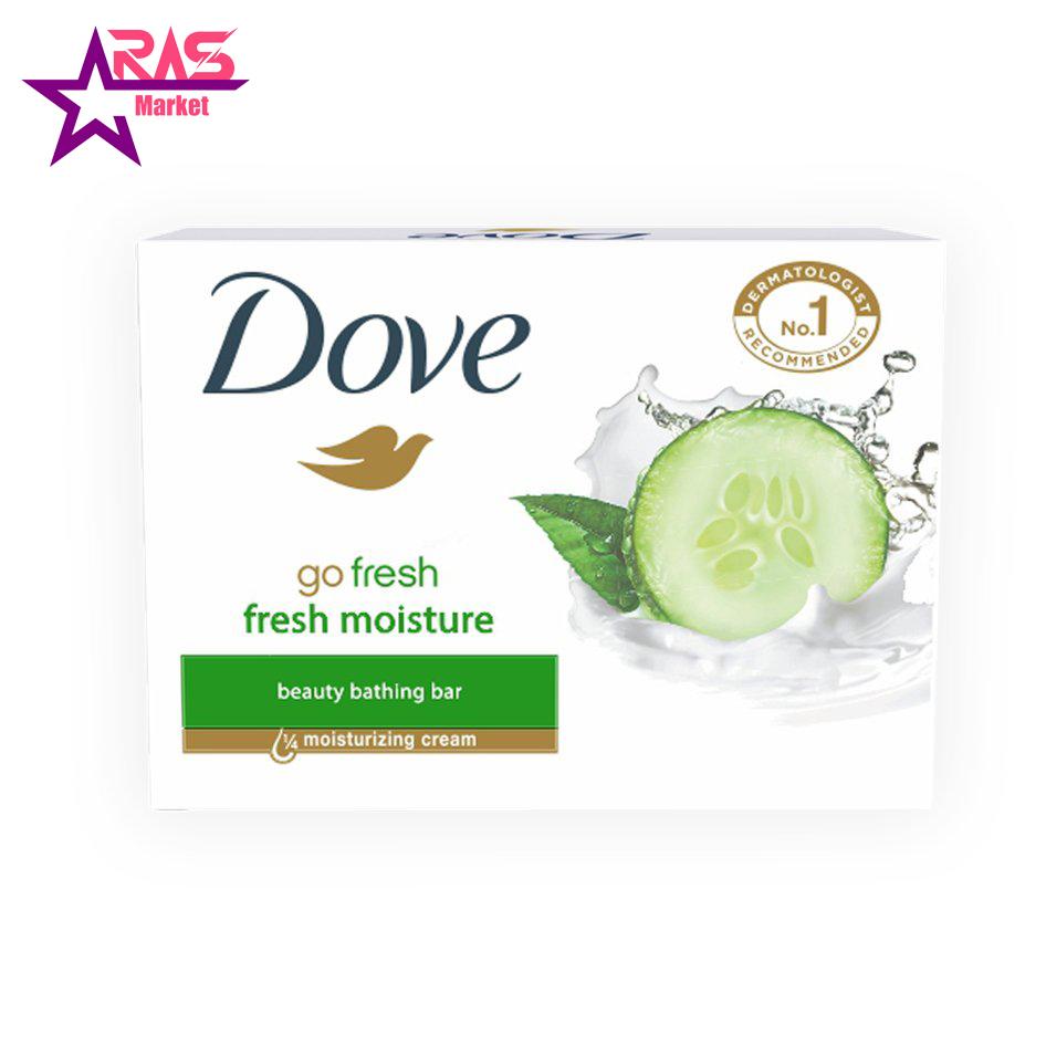 صابون داو مدل Fresh Touch حاوی عصاره خیار و چای سبز 100 گرم ، فروشگاه اینترنتی ارس مارکت ، صابون زیبایی دورو