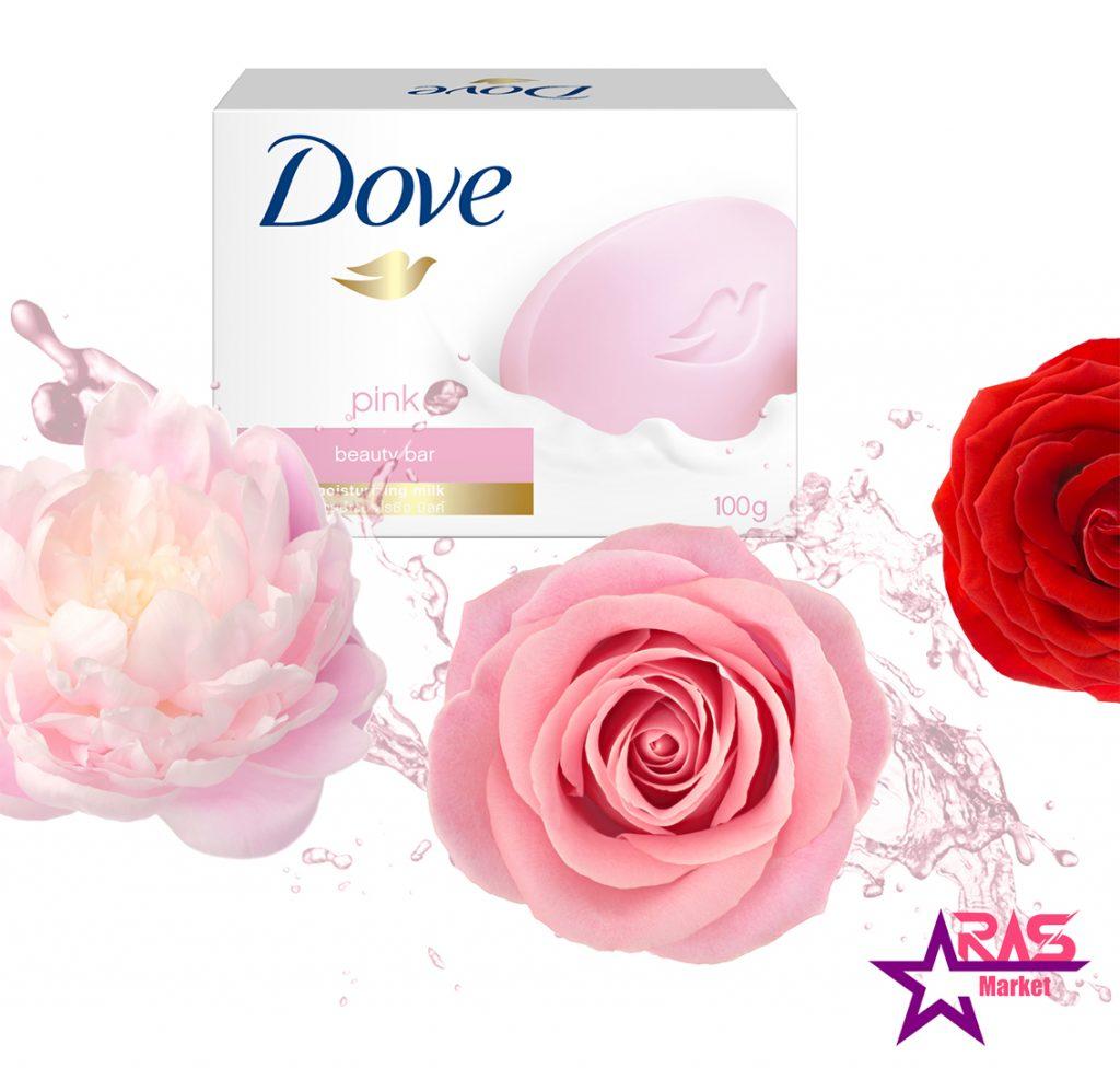 صابون داو مدل pink با رایحه گل رز 100 گرم ، خرید اینترنتی محصولات شوینده و بهداشتی