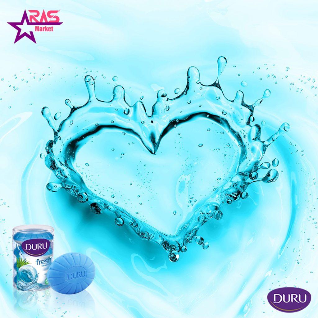 صابون دورو سری fresh sensations با رایحه نسیم اقیانوس 4 عددی ، خرید اینترنتی محصولات شوینده و بهداشتی ، صابون حمام دورو