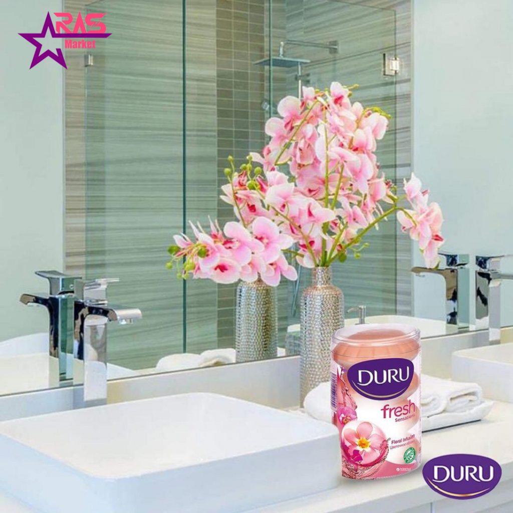 صابون دورو سری fresh sensations با رایحه گل های تازه 4 عددی ، خرید اینترنتی محصولات شوینده و بهداشتی ، ارس مارکت