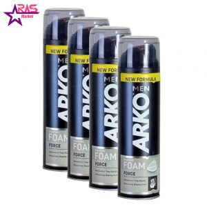 فوم اصلاح آرکو مدل Force حجم 200 میلی لیتر ، فروشگاه اینترنتی ارس مارکت ، فوم اصلاح صورت آرکو