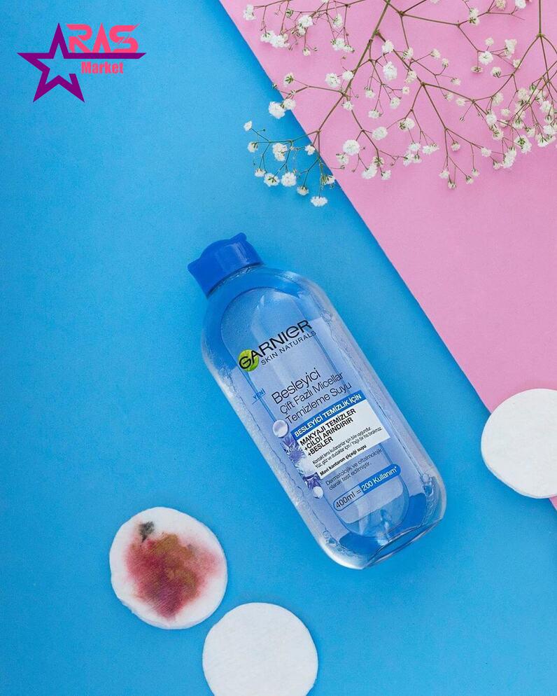 محلول آرایش پاک کن دو فاز گارنیر حاوی عصاره گل گندم 400 میلی لیتر ، خرید اینترنتی محصولات شوینده و بهداشتی